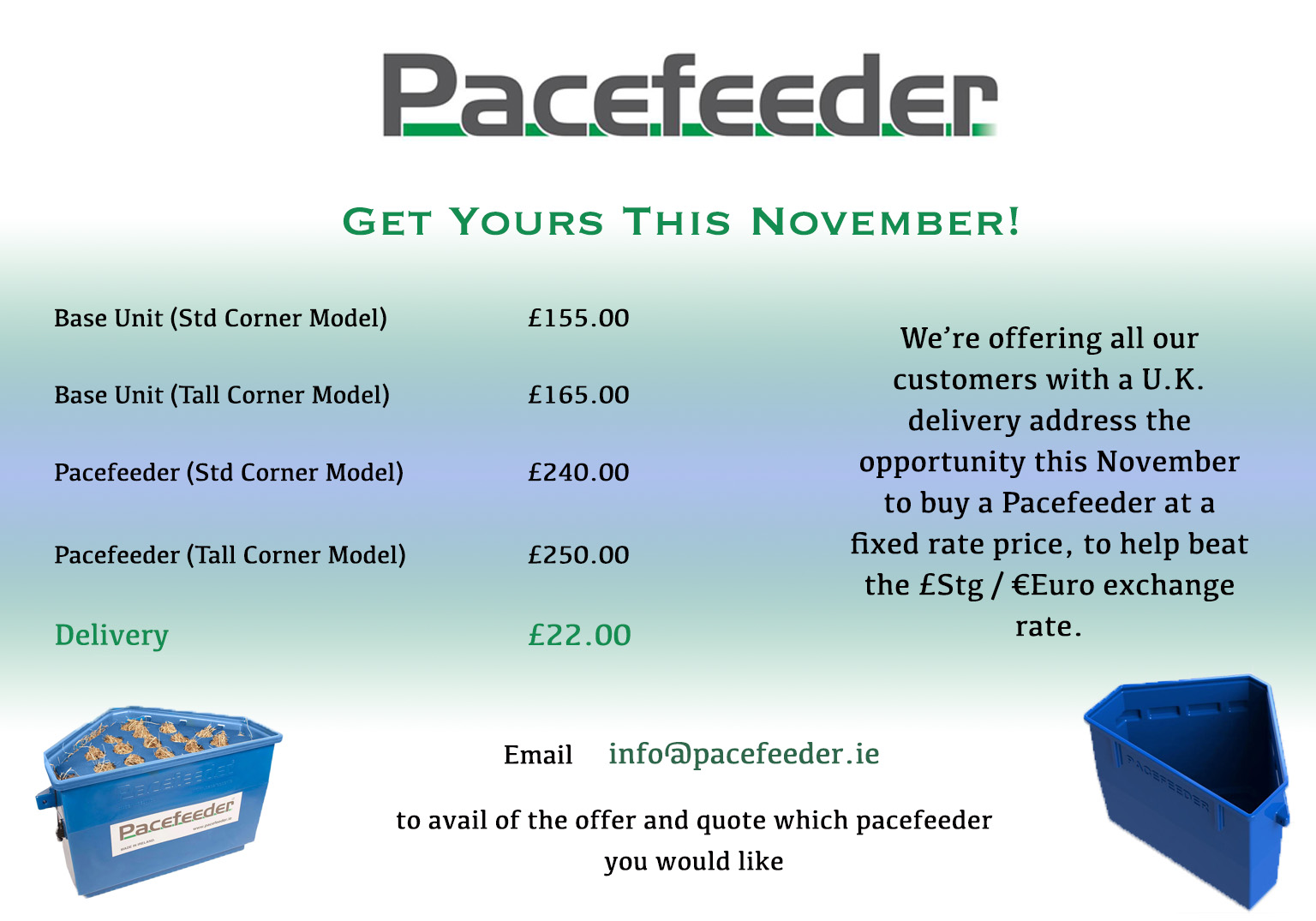 November UK Promotion Pacefeeder the Natural and Healthy Way to Feed Horses!